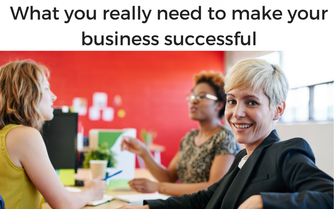 What you really need to make your business successful