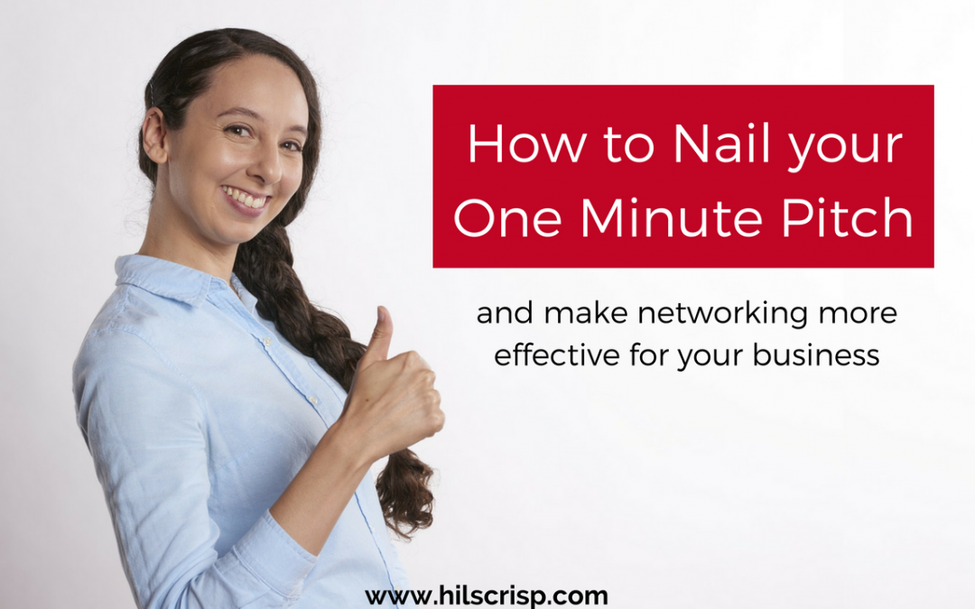 How to nail your one minute pitch