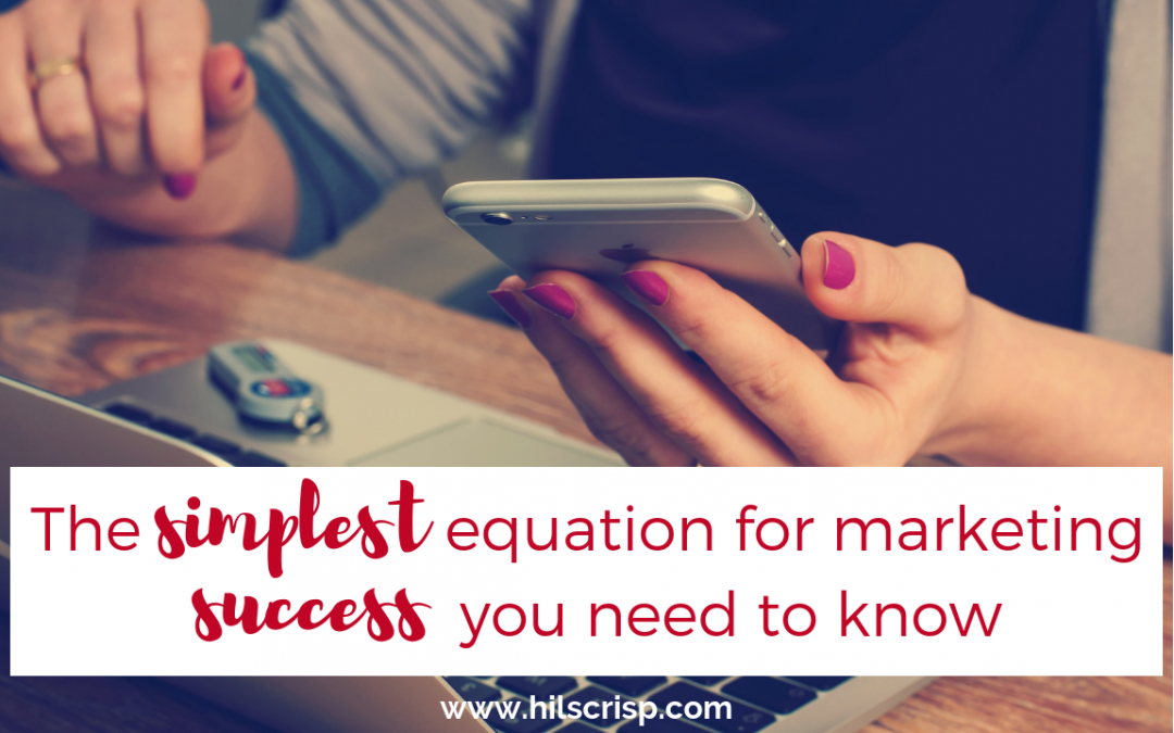 The simplest equation for marketing success - you need