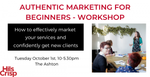 Authentic Marketing For Beginners Workshop